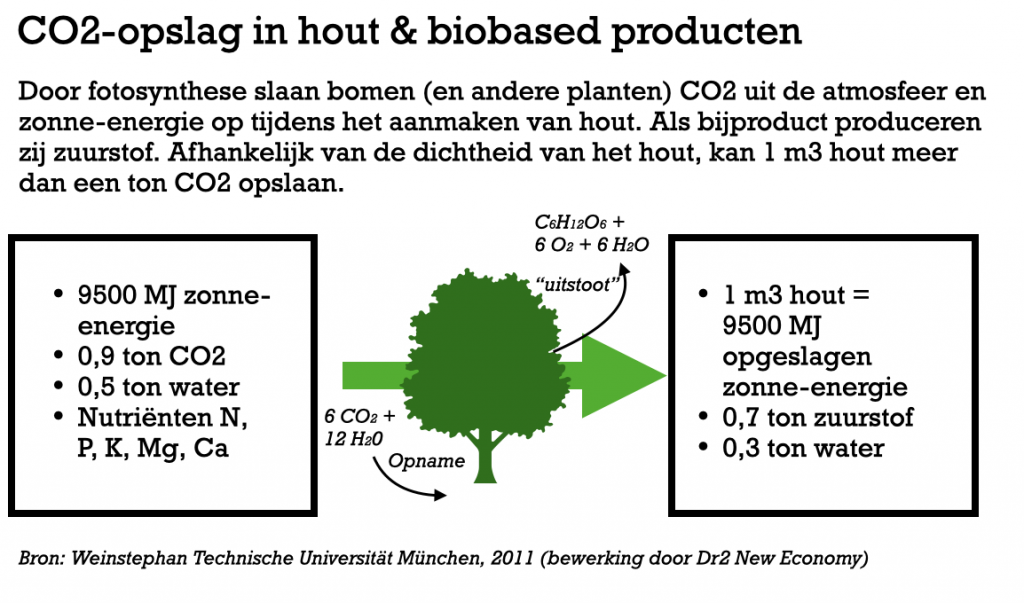 CO2 opslag in biobased materialen